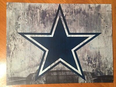 Tin Sign Vintage Dallas Cowboys NFL 1