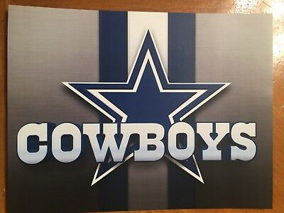 Tin Sign Vintage Dallas Cowboys NFL 2