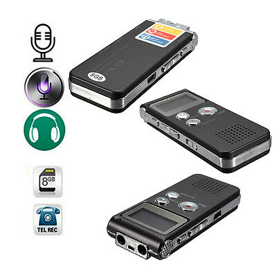 8GB 650Hr Digital Audio Voice Recorder Dictaphone Rechargeable MP3 Player New