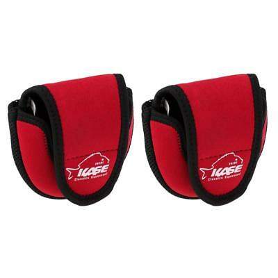 2pcs Bait Casting Fishing Reel Bag Protective Case Cover Pouch Storage