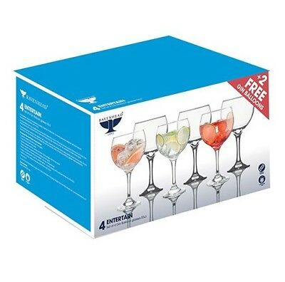 Large Gin Balloon Glasses  - Pack of 6 for the price of 4 - 55cl