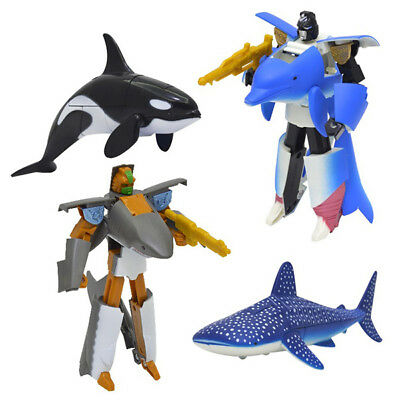 Deformed Robots Toys Shark Dolphin Whale Children's Transformers Action Figures
