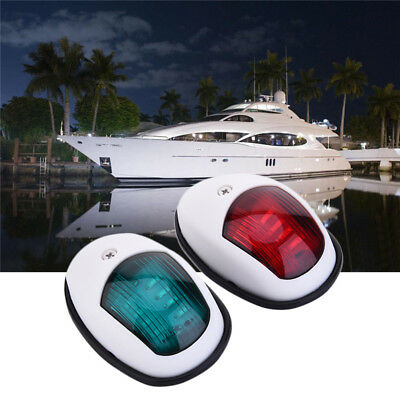 One Pair Bow Navigation Light Waterproof DC 12V LED Red Green Marine Boat Yacht