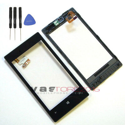 New Nokia Lumia 520 Touch Digitizer Screen Glass Replacement + Frame
