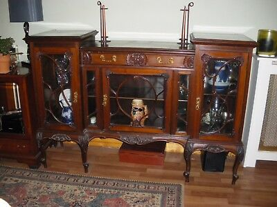 Antique French Style Mahogany Display Cabinet