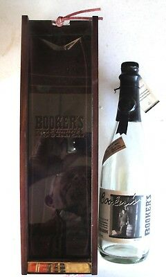 Booker's Limited Bourbon Bottle #2807/3000 Empty & Wood Box The Story Of Booker