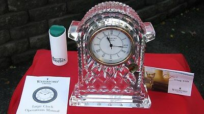 vintage Irish (signed Waterford crystal new boxed clock) tyrone storm lamp
