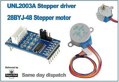 28BYJ-48 Stepper motor and ULN2003A driver module. Ideal for Ardunio