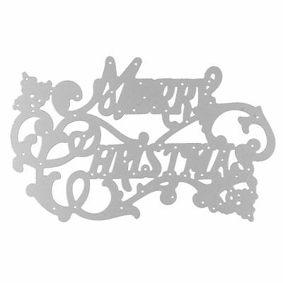 Merry Christmas Metal Cutting Dies Stencil Scrapbook Paper Embossing Utility