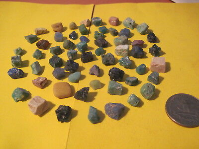 ANCIENT ROME . 1-2 century . Set of 60 pieces of color glass & stone mosaic .