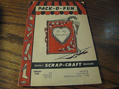 Pack O Fun Scrap-Craft Magazine 1958 Febuary