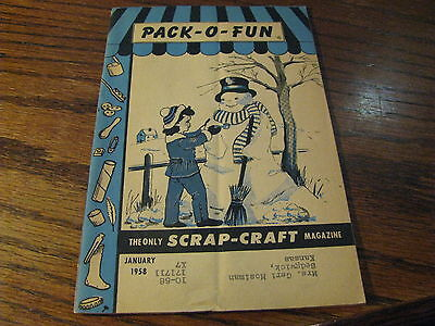 Pack O Fun Scrap-Craft Magazine 1958 January