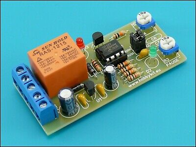 Cycle time relay Cyclic timer switch Delay ON OFF Repeater 1 to 120 Sec Min 12V