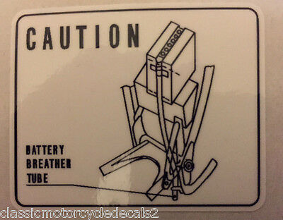 HONDA CL350 BATTERY BREATHER CAUTION WARNING DECAL