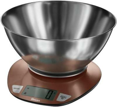 Swan 5kg Townhouse Digital Kitchen Scale In Copper With 1.8l Mixing Bowl