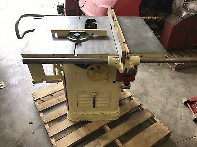 Delta 10 Inch Table Saw, 3 Phase Commercial Industrial Saw