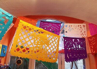Authentic Handcut Mexican Papel Picado Banners Day of the Dead 3.5 m Length