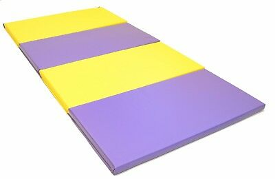 8FT Folding Gymnastics Mat Workout Fitness Yoga Home Tumble Track Mat 4'x8'x2""
