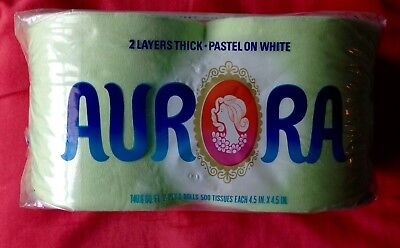 Vintage 1960's 1970's Aurora Colored Toilet Paper Facial Tissue Green MIP NOS