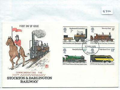 wbc. - GB - FIRST DAY COVER - FDC - 570 - SPECIALS - 1975 - RAILWAYS
