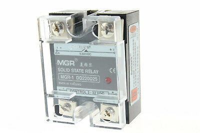 Input 3-32V DC Load 5-220V ​DC 25A Solid State Relay SSR-25 DD220D25 DC to DC