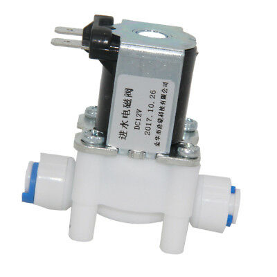 """12/24V Electric Solenoid Valve Water Purifier RO Machine Control Switch 1/4"""""""