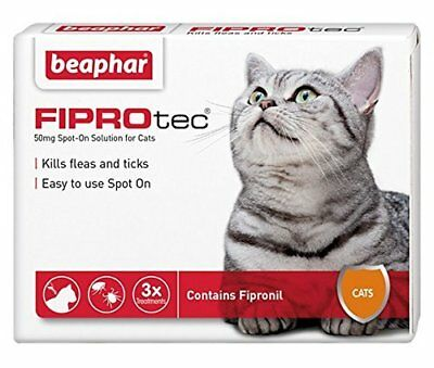 BEAPHAR FIPROtec SPOT ON SOLUTION FOR CATS 3 X TREATMENT