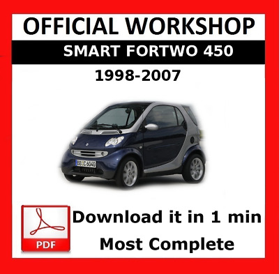 Workshop Smart Fortwo 2007 to2014 Service and Repair Manual on CD Type 451