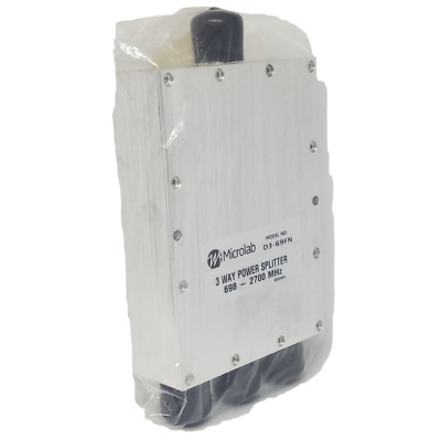 D3-69FN MICROLAB 3 WAY Power Splitter 698-2700MHz