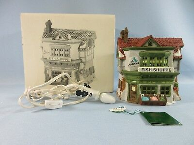 Dickens Dept 56 Village The Mermaid Fish Shoppe Lighted House