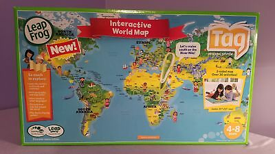 Leapfrog tag world map jumbo puzzle driveeapusedmotorhomefo leapfrog tag interactive world map 2 sided learning path leap frog brand new gumiabroncs Images