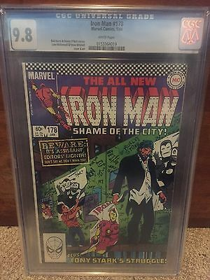Iron Man #178 Cgc 9.8  Marvel Comics White Pages 1984