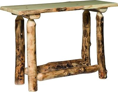 Rustic Log Sofa Table Solid Pine And Cedar Furniture Bed