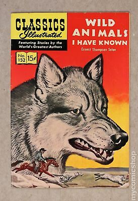 Classics Illustrated 152 Wild Animals I Have Known (1959) #1 FN 6.0