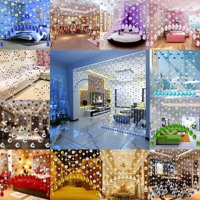 1 Pc Crystal Glass Bead Curtain Living Room Bedroom Window Door Wedding Decor