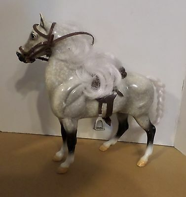 Breyer Reeves Dapple Gray with Saddle