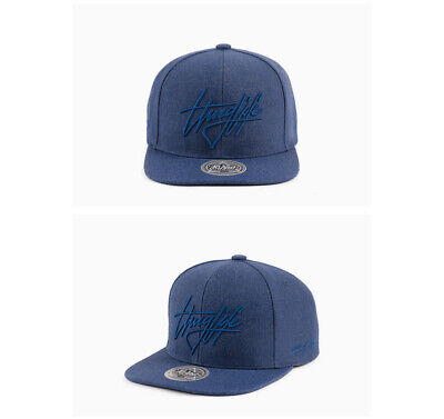 Unisex Mens 2Pac Flipper Thug Life Out Law Satin Baseball Cap Casual Hats Navy