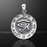 The Eye of Horus Protection Sterling Silver Pendant