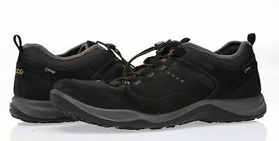 structural disablities check out enjoy discount price ECCO MENS 'ESPINHO GTX' Black Leather Fashion Sneakers Sz 44 ...