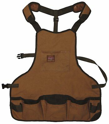 Professional Canvas Work Apron with 16 Tool Pockets, Fully Adjustable Waterproof