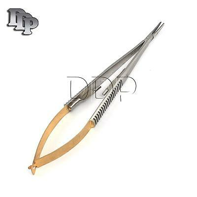 """1 TC Castroviejo Needle Holder Curved 5.5"""" Dental Surgical Instrument"""