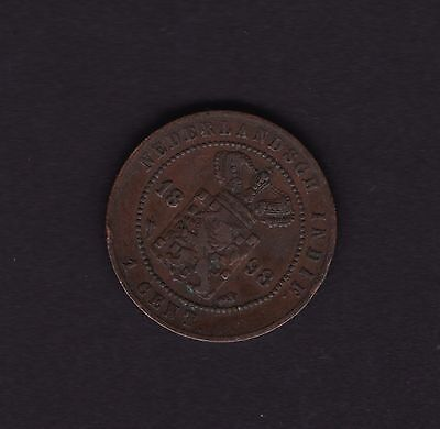 Netherlands Indies One Cent 1898 Coin