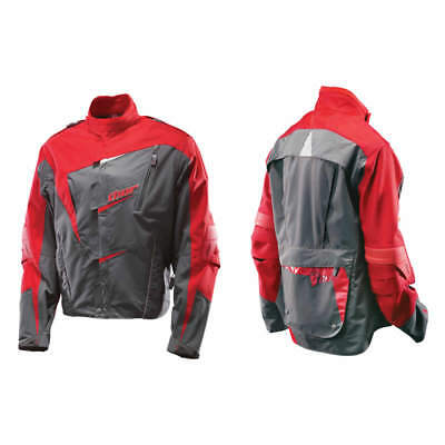 THOR Ride Mens MX Adventure Jacket - Red/Charcoal XL