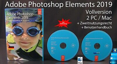 Adobe Photoshop Elements 2018 Vollversion Box + DVD Win/Mac + Anleitung OVP NEU