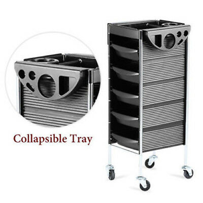Salon Spa Trolley Storage Cart Coloring Beauty Rollabout Hair Dryer Holder Cart