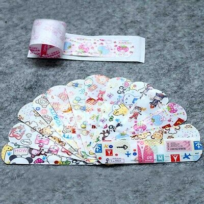 100pcs Variety Patterns Bandages Cute Cartoon Band Aid For Kids Children Band