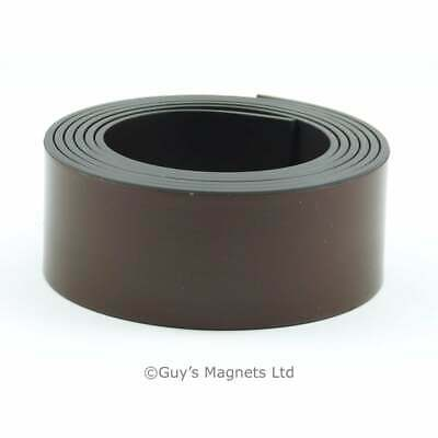 "3 metres 1"" (25.4mm) wide flexible, self adhesive magnetic strip craft fridge"
