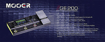 Mooer GE200 Guitar Multi Effects Processor Pedal Board IN STOCK Today !!!!