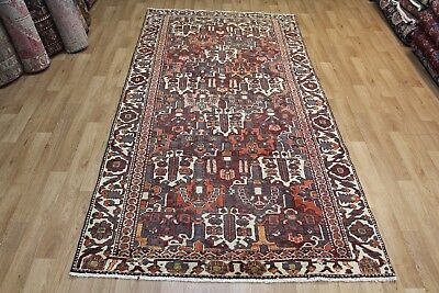 Antique Persian Bakhtiari long rug Hand Made wool,nice old colour 10 x 5 ft