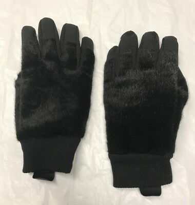 H&M UNICEF All For Children Collection Batman Fur Lined Gloves Black 6-8yr new